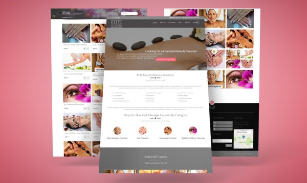 Elite Spa and Beauty Academy Website Design